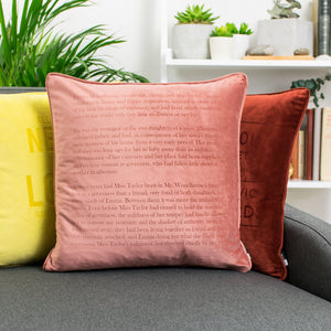 Classic Literature Quotation Personalised Velvet Cushion