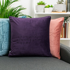 Velvet Personalised Favourite Quote or Song Lyric Cushion  Home - Betsy Benn