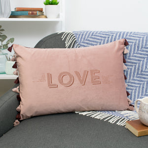 Meaning of Love Velvet Cushion