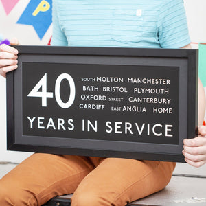 Personalised 40th Birthday Bus Blind Print-Print-Betsy Benn