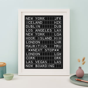 Airport Destination Board