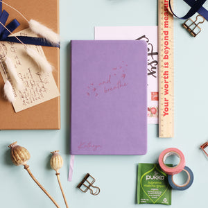And Breathe Personalised Luxury Notebook Journal