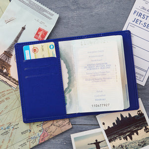 Personalised Passport Cover/Holder With Script Name-Gift-Betsy Benn