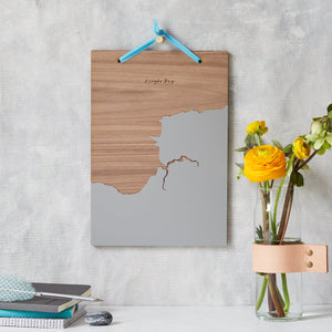 Coastline Wooden And Acrylic Wall Hanging  Print - Betsy Benn