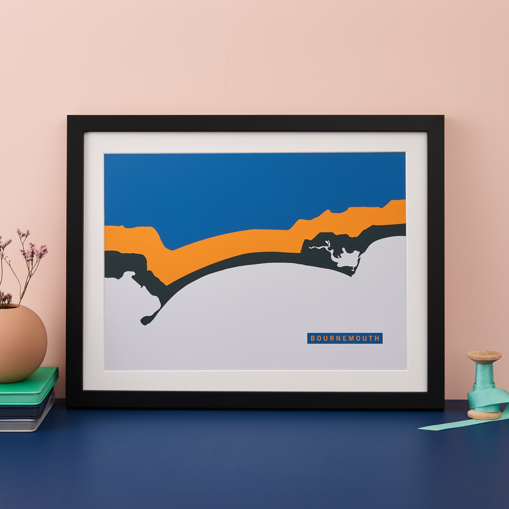 Abstract Coastline Art Print