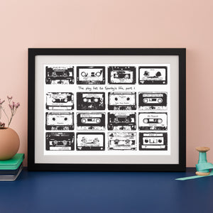 Personalised Cassette Playlist Print