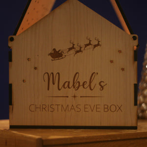 Personalised Wooden Christmas Eve Box House-Decoration-Betsy Benn