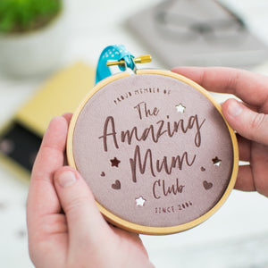 Amazing Mum Club Velvet Decoration