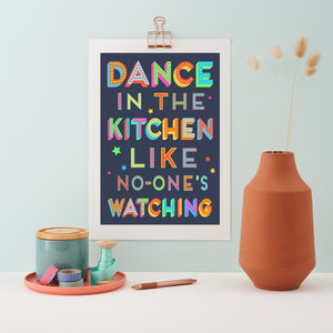 Dance In The Kitchen print