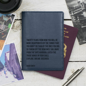 Personalised Travel Quote Passport Cover-Gift-Betsy Benn