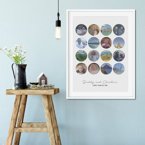 Daddy And Me Photo Memories Personalised Print
