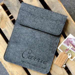 Personalised Script Name Felt tablet/iPad Sleeve