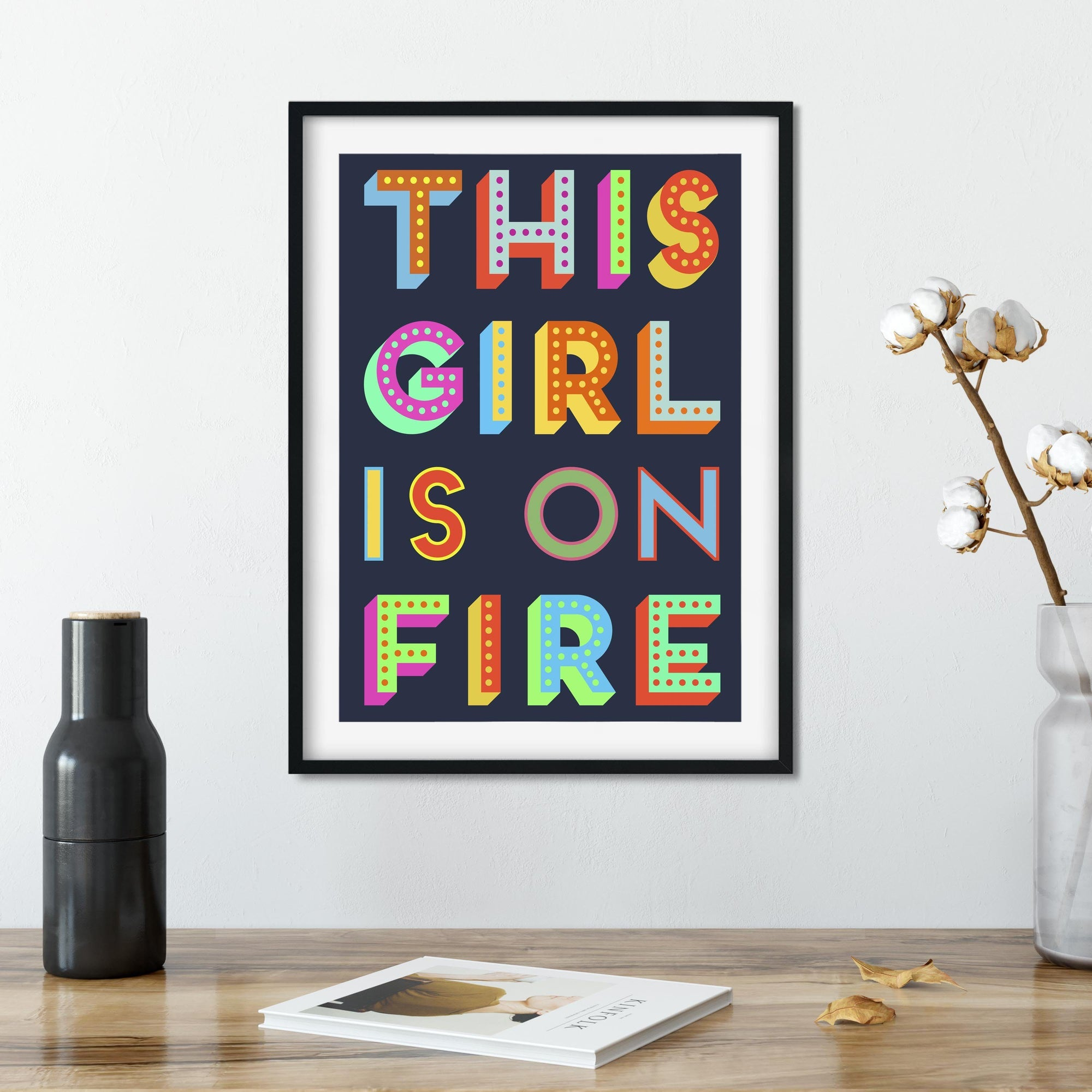 This Girl Is On Fire Feminist Giclee Print