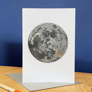Full Moon Metallic Greetings Card