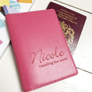 Passport - Personalised Clearance Passport Cover - Nicole-Gift-Betsy Benn