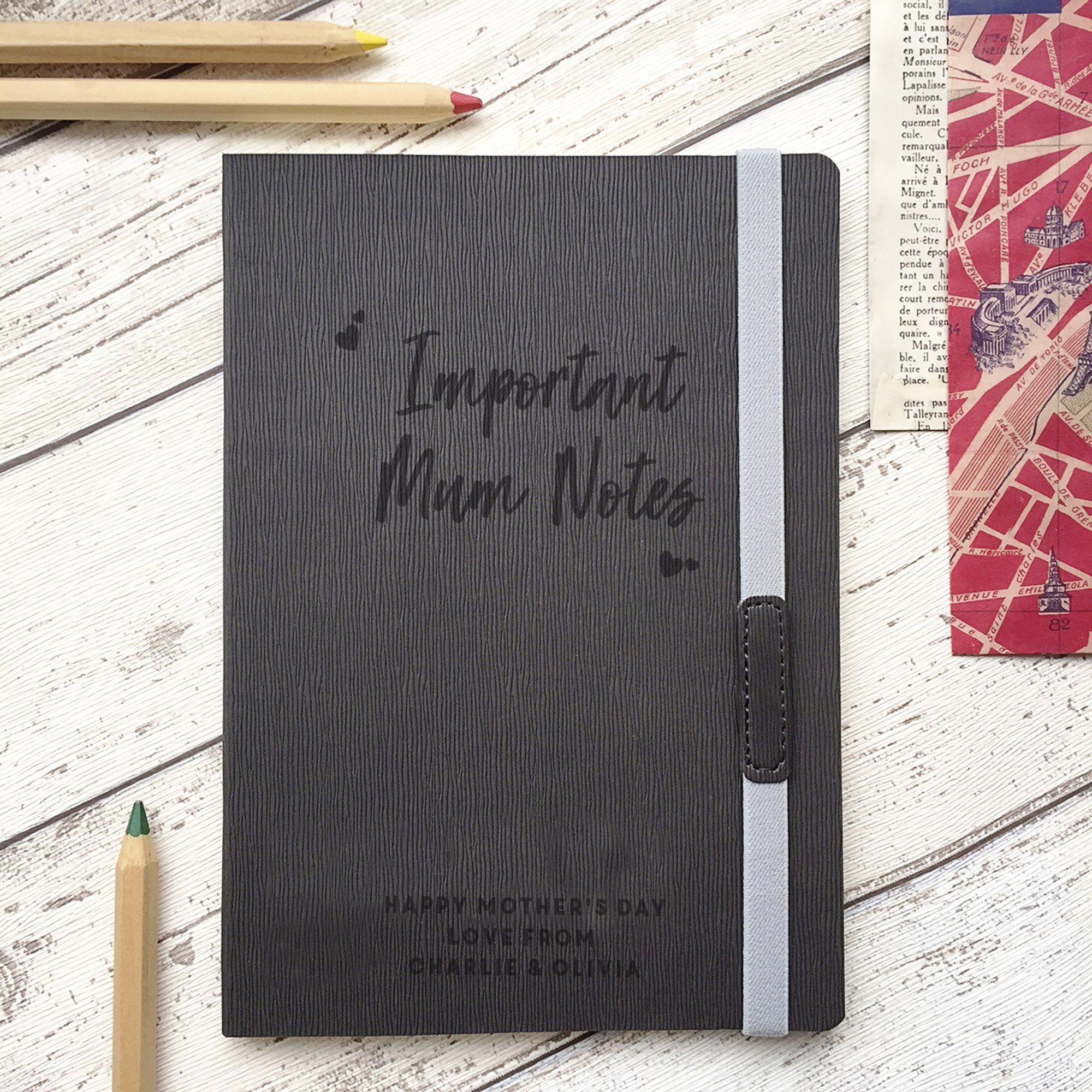 'Important Mum Notes' Personalised Notebook-Notebook-Betsy Benn