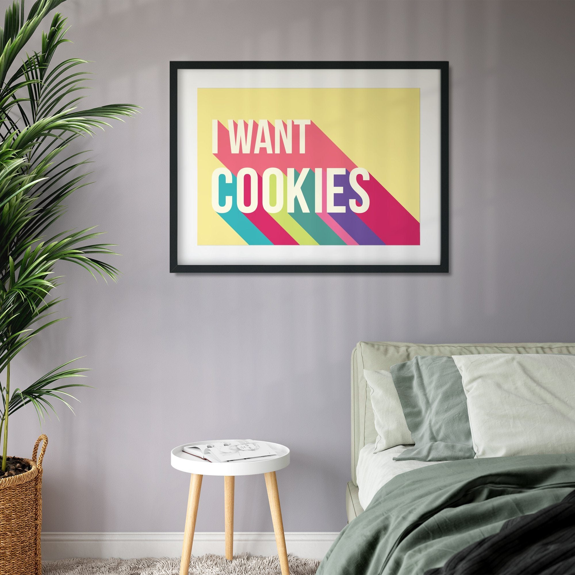 I Want Cookies Colourful Giclee Print