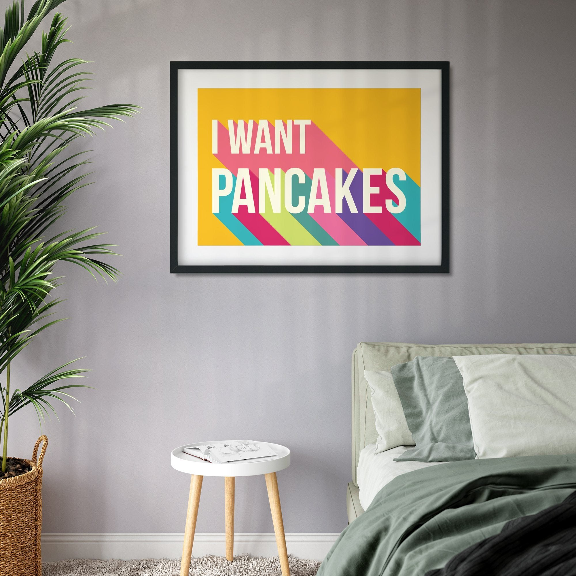 I Want Pancakes Colourful Giclee Print