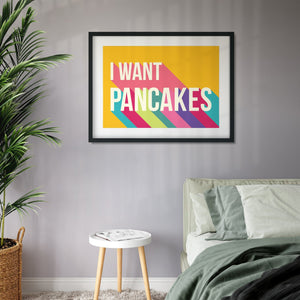 I Want Pancakes Colourful Giclee Print-Betsy Benn