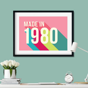 Personalised 40th Birthday Year Print-Print-Betsy Benn