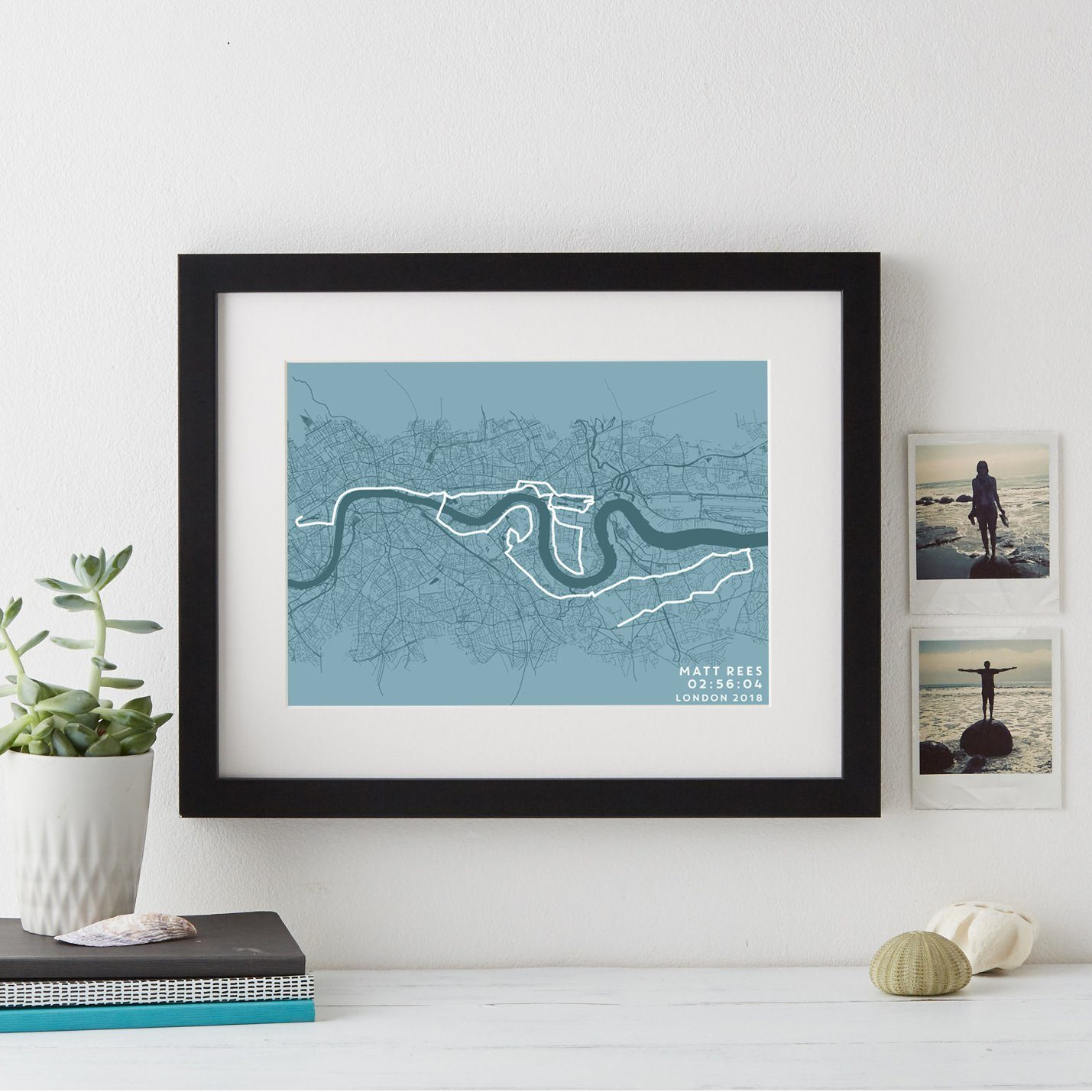 London Marathon Route and Time Print  Print - Betsy Benn