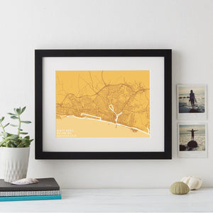 Brighton Marathon Route and Time Print  Print - Betsy Benn