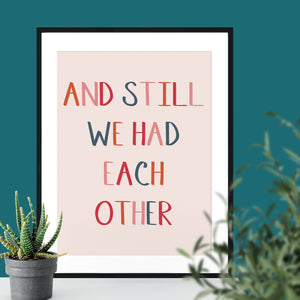 And Still We Had Each Other Giclee Print-Betsy Benn