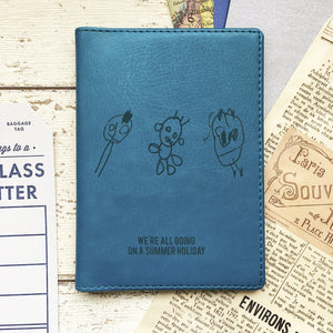 Passport Cover Personalised With Child's Drawing-Gift-Betsy Benn