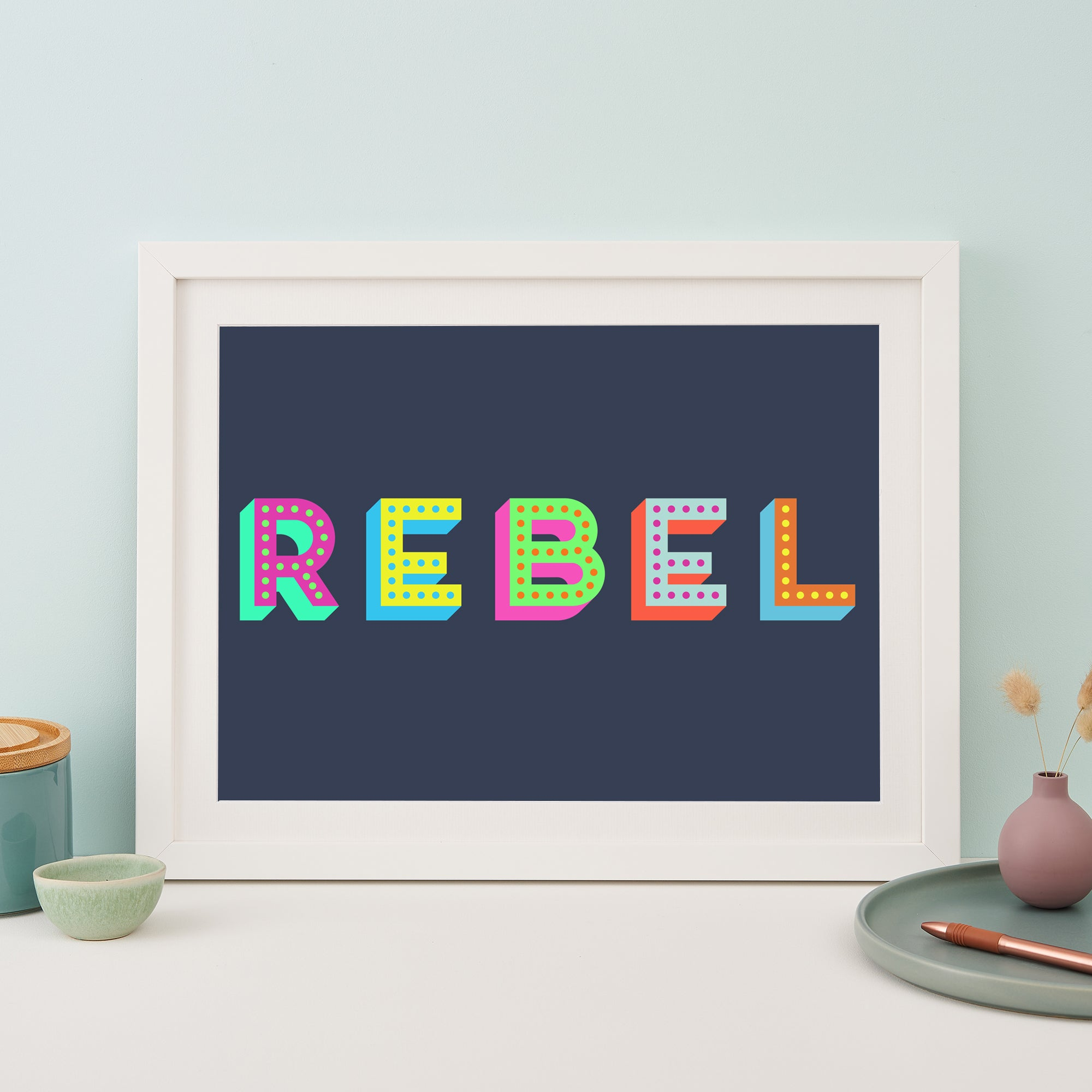 Colourful Rebel Giclee Print