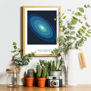Personalised Place in Space  Print - Betsy Benn