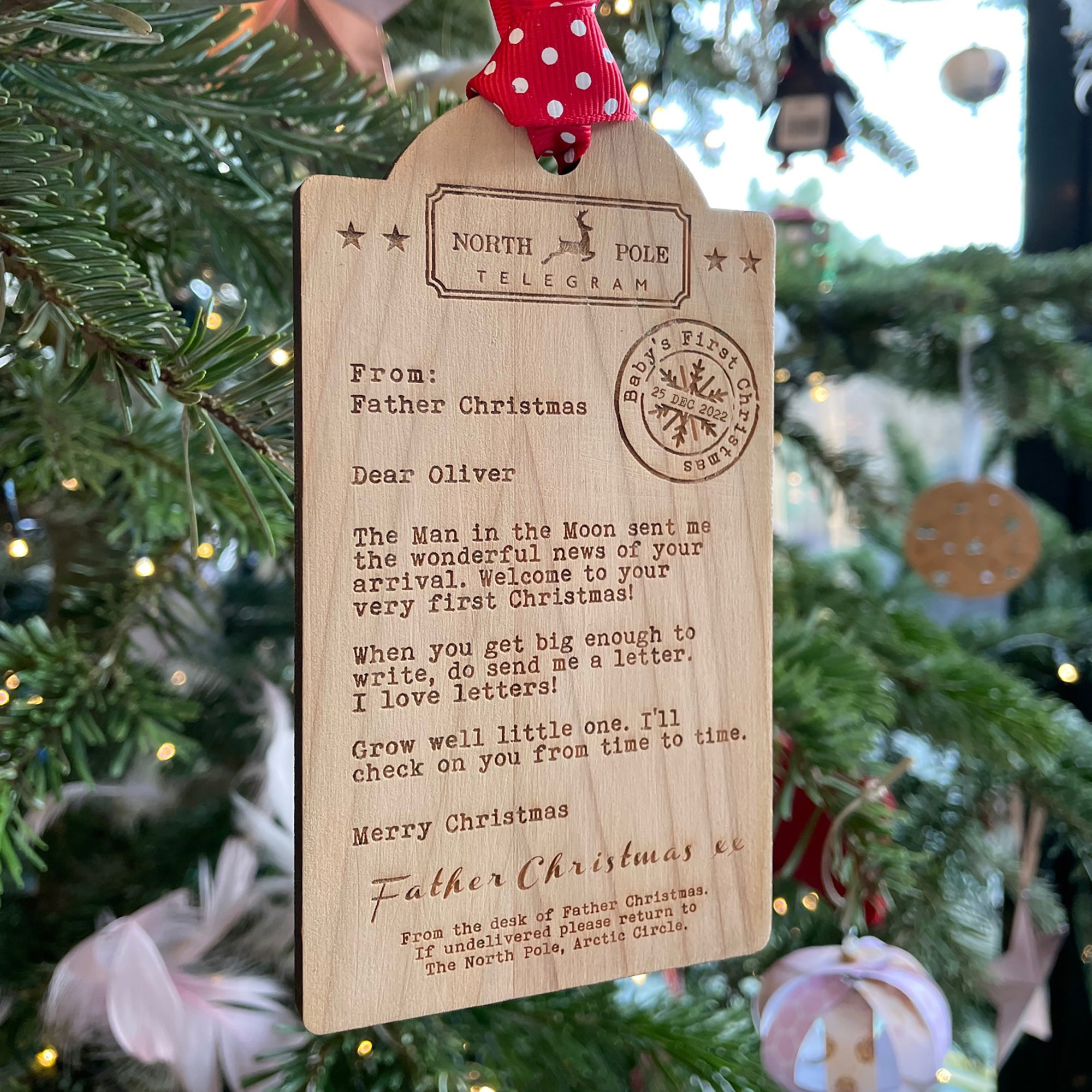 Baby's First Christmas Ornament | Telegram from Father Christmas-Betsy Benn