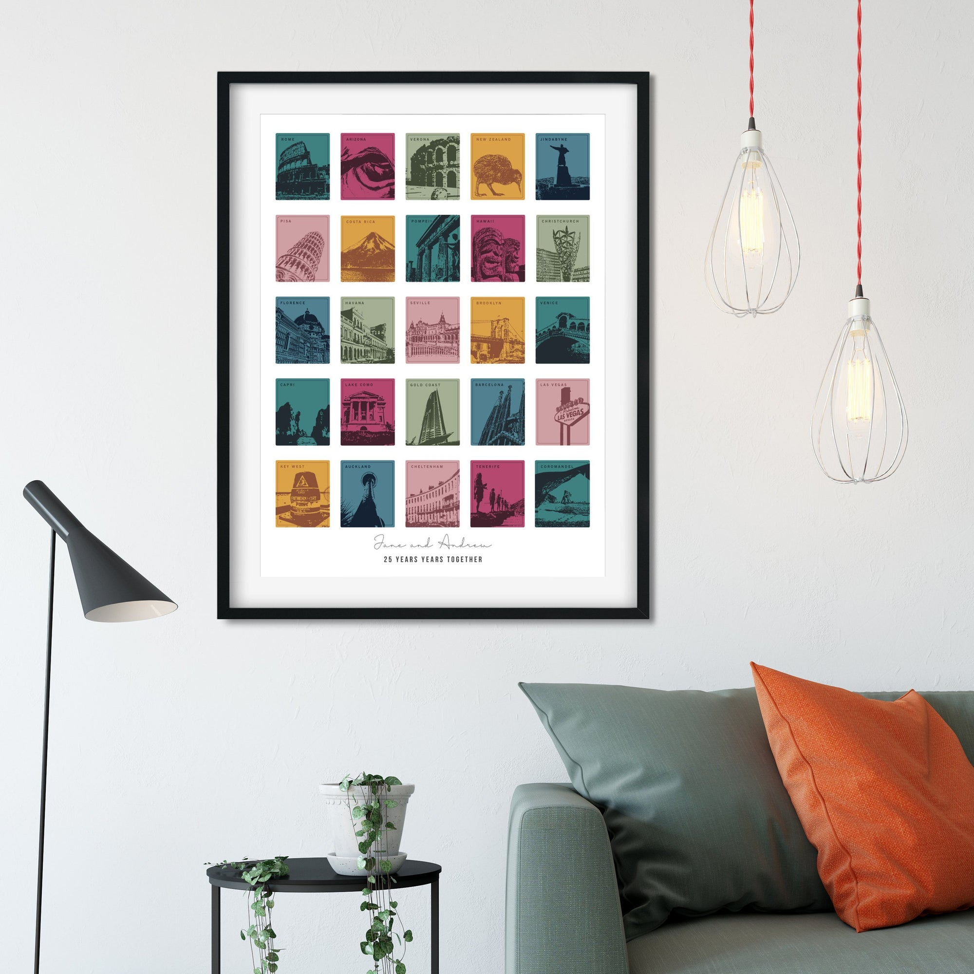 25th Anniversary Travel Memories Print-Betsy Benn