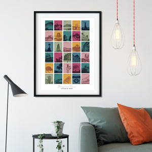 30th Birthday or Anniversary Travel Memories Print-Betsy Benn
