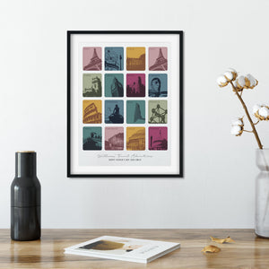Travel Memories And Favourite Places Personalised Print  Print - Betsy Benn