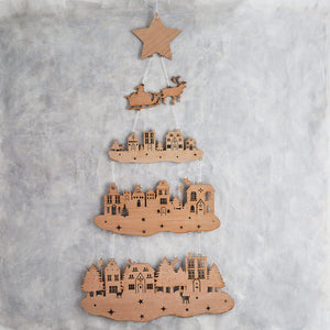 Nordic Wooden Christmas Tree  Home - Betsy Benn