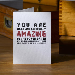 You Are Amazing  Card - Betsy Benn