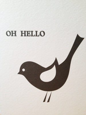 Oh Hello Greetings Card