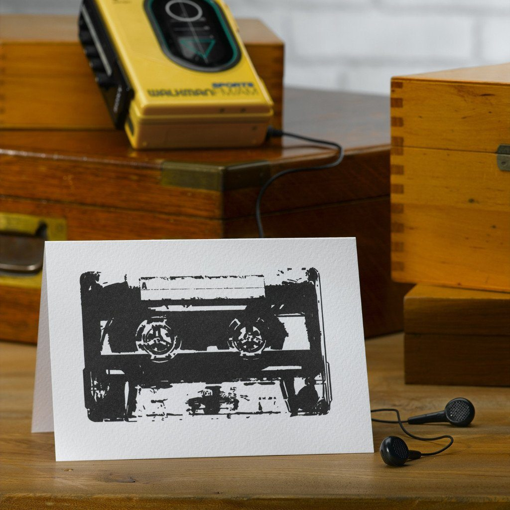 Pack of Two Cassette Greetings Cards