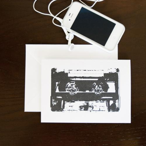 Pack of Two Cassette Greetings Cards  Card - Betsy Benn