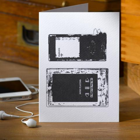 Pack of Two MP3 Player Greetings Cards - Betsy Benn