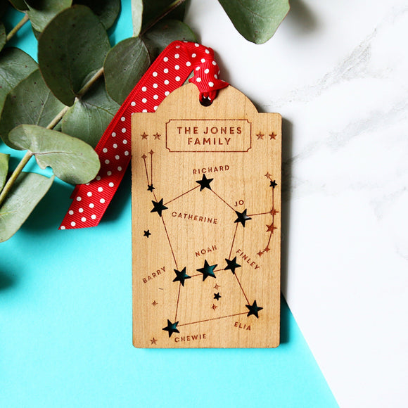 Family Constellation Christmas tag decoration - Betsy Benn