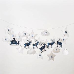 Santa And Reindeer Hanging Advent Calendar  Decoration - Betsy Benn