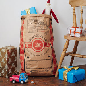The Best Santa Sack Ever Kraft Christmas Sack  Decoration - Betsy Benn