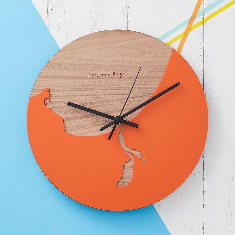 Coastline Wooden And Acrylic Clock - Betsy Benn