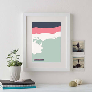 Abstract Coastline Art