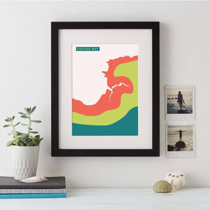 Abstract Coastline Art  Print - Betsy Benn