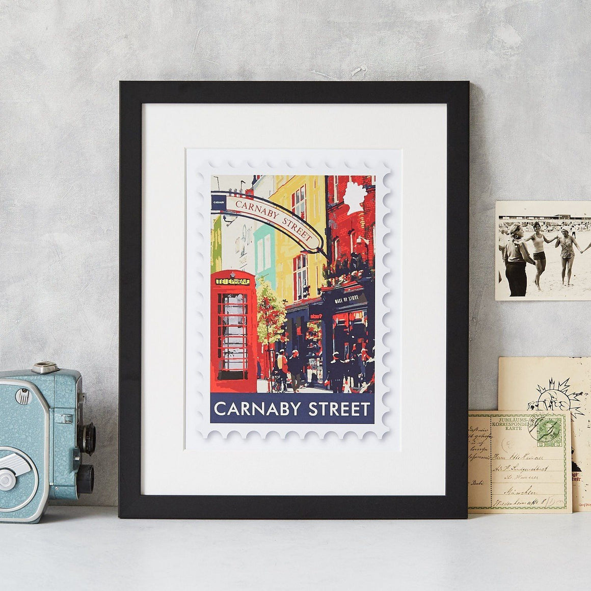 Carnaby Street Postage Stamp Art Print