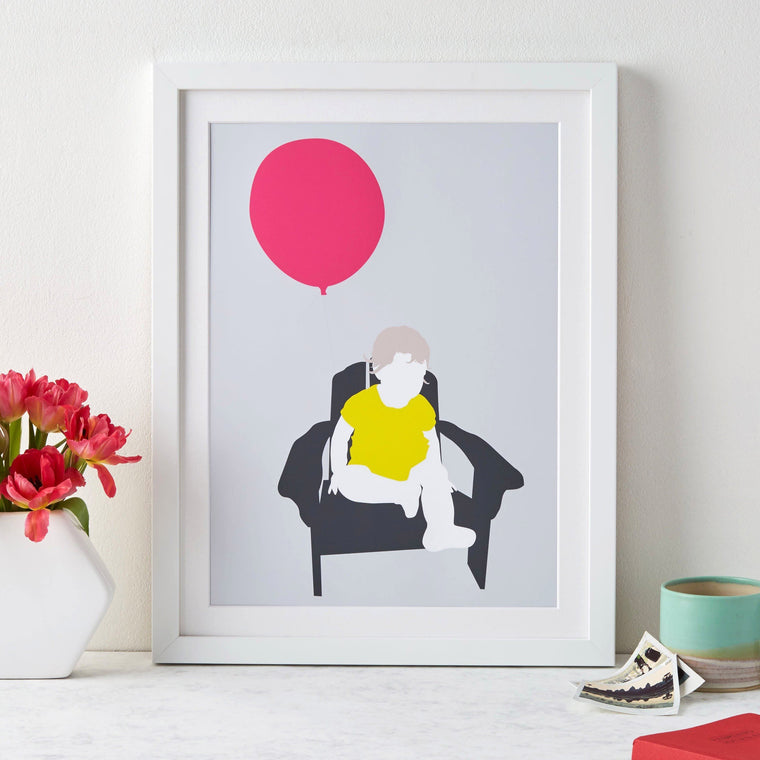 Child Silhouette Modern Art - Betsy Benn