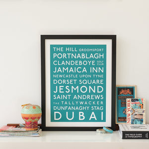 Classic Destination Bus Blind  Print - Betsy Benn