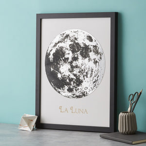 Full Moon Metallic Engraving